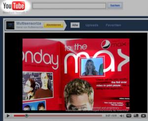 Afficheur vidéo ultra-fin inséré dans un magazine imprimé