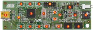 Kit d'évaluation Atmel AT90USBKey à prix plancher