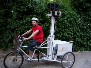 Google dans Paris à vélo