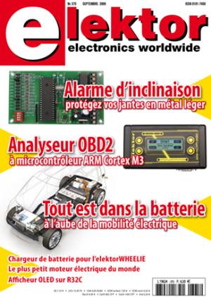 Elektor : le numéro de la rentrée 2009 sous le signe de l'électronique automobile