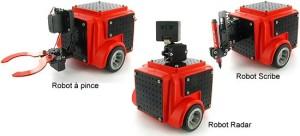 Kit de conception de robots avec ARM7