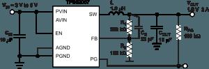 Un convertisseur DC-DC 2 A gros comme un confetti