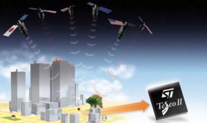 Un récepteur multi GPS capte aussi les satellites encore au sol
