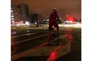 Feu arrière à laser pour vélo