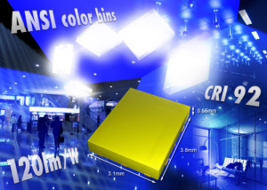 LED blanches compactes à flux lumineux élevé