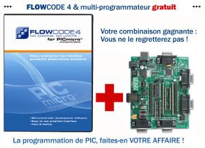 Multi-programmateur PIC offert avec le logiciel de programmati