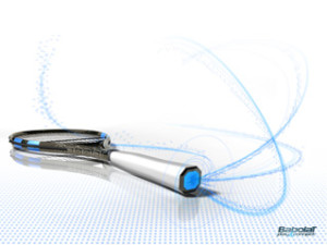 La raquette de tennis avec connexion USB