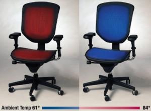 Chaise de bureau climatisée pour informaticien frileux