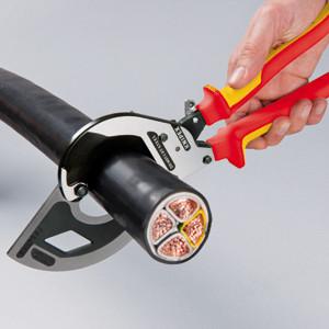 Coupe-câbles à cliquet pour câble jusqu'à 60 mm