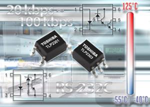 Photocoupleurs optimisés pour transmissions RS-232 et RS232-C