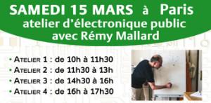 Atelier d'électronique pour les débutants avec Rémy Mallard