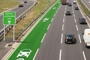À terme, une voie spécifique pourrait être réservée aux véhicules électriques en mal de charge.