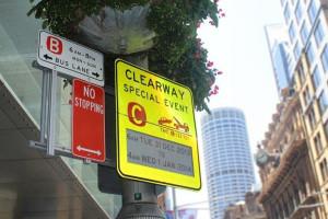 Des panneaux ont été testés dans le centre-ville de Sydney.