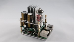 La carte d'extension « Hybrid Tube Amp » pour le RPi.