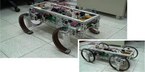 Robot met wielen die in benen kunnen veranderen
