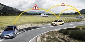 Intelligente auto's waarschuwen elkaar voor gevaar
