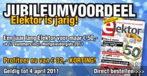 Jubileumvoordeel: een jaar lang Elektor voor maar 50 euro