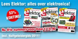 53% Korting op Elektor: 3 nummers voor nog geen 15 Euro