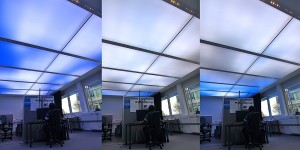 Plafondverlichting imiteert bewegende wolken