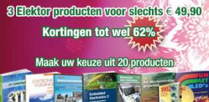 Speciale kerstactie: 3 Elektor-producten voor 49,90 euro