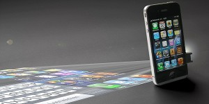 Miniprojector voor smartphones