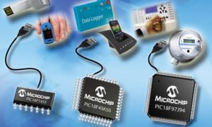 Vijftien nieuwe 8-bits PIC's met USB-interface