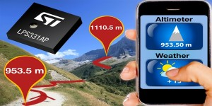 Nauwkeurige hoogtemeter voor mobiele telefoons