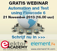 Elektor-webinar: Automation & Test Using Flowcode V6