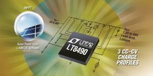 Geïntegreerde 80-V-laadregelaar voor zonnepanelen