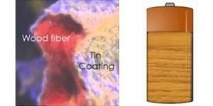 Oplaadbare batterij van hout
