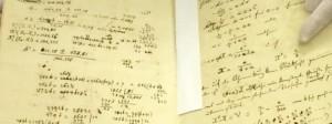 Ohm's originele handschrift over de Wet van Ohm (foto door Lukas Mezger)