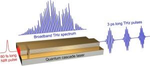 Een quantumcascadelaser fungeert als breedbandige terahertz-versterker met een versterkingsbandbreedte van meer dan 1 Thz.