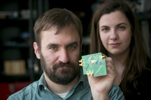 Testprint met de tweeweg-transceiver (foto: Jason Koski / Cornell University).