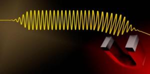 Photonen bestuurd met elektrische en magnetische velden. Grafiek: Colourbox / Montage Josef Kuster)