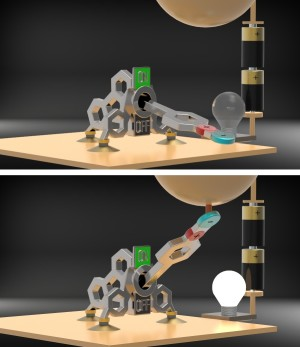 De schakelaar kan mechanisch en elektrostatisch worden bediend (afbeelding: KIT).
