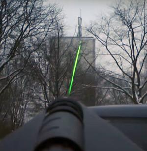 HyperLOG-antenne met lasertelescoop (optioneel)
