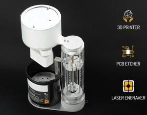3D-printer, ets- en graveermachine in één apparaat