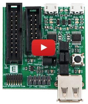 Universele JTAG-programmeer/debug-adapter met verschillende µC-aansluitingen