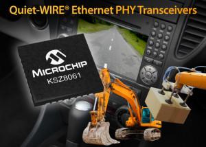 Quiet-WIRE KSZ8061 Ethernet-IC van Microchip voor veeleisende omstandigheden