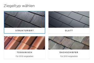 Verschillende zonne-dakpannen. Afbeelding: Tesla