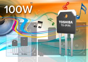 Nieuwe Toshiba-powertransistoren voor audioversterkers