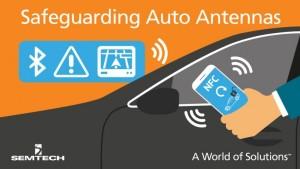 Superkleine diode beschermt auto-antennes