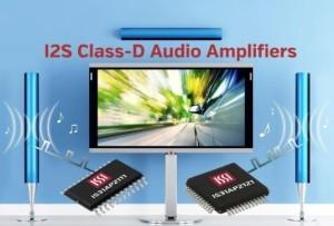Klasse-D audioversterkers met I2S-ingangen