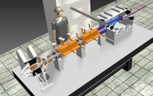 De Smart*Light mini-synchrotron is klein genoeg om op een tafel te passen (afbeelding: TU Delft / TU Eindhoven).