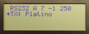 platino serial bus tester main menu