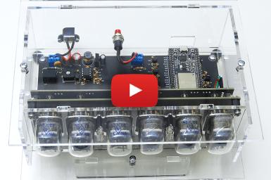Nieuwe kit van Elektor-LABS: VFD-Klok met ESP32