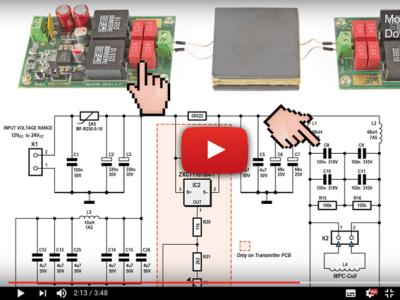 High-efficiency wireless power transfer (max. 50W)