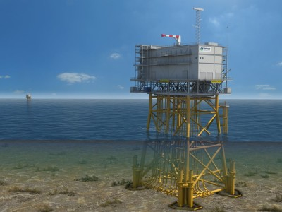Golden Match: Integrating Storage at Offshore Wind Farms