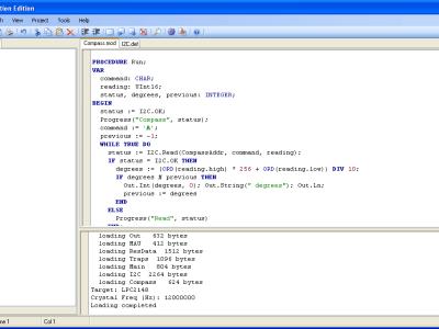 Screenshot of the IDE
