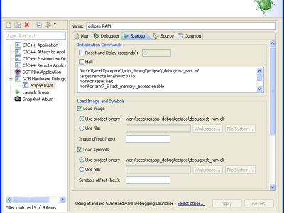 Figure 10. Third tab. The parameters accessible via the scrollbar are blank (by default).